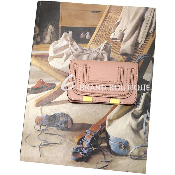 CHLOE Marcie 粒面小牛皮釦式卡片夾(粉色) 2040333-44