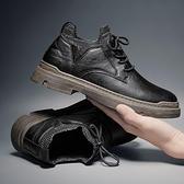 2020新款春季男士皮鞋英倫百搭潮流男鞋襪口馬丁潮鞋復古韓版休閒 蘿莉小腳丫