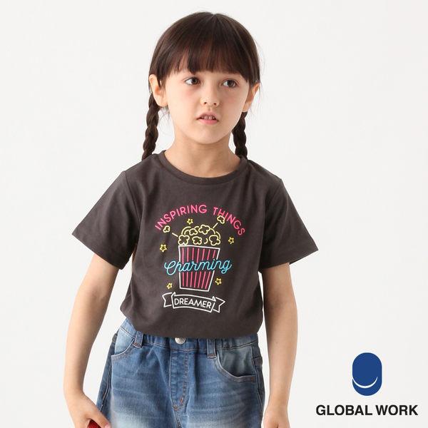 GLOBAL WORK童圓領可愛圖案吸水速乾短袖T恤上衣-五色