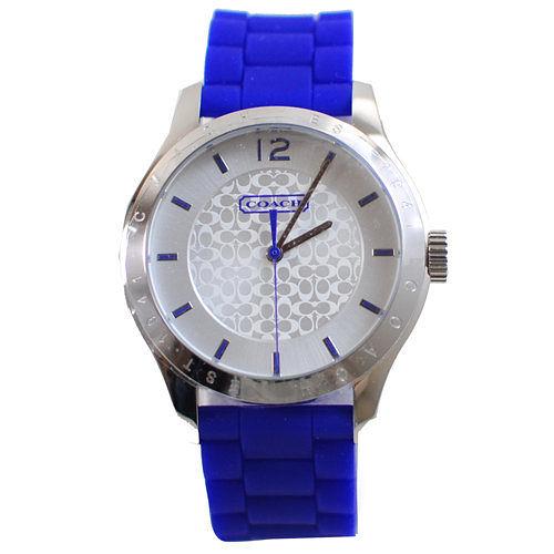 茱麗葉精品 全新【降價出清】 COACH W6000 Maddy 手錶.藍