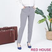 RED HOUSE-蕾赫斯-格紋修身褲(藍色)