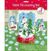 聖誕 裝飾 佈置 立體擺飾組-雪人企鵝