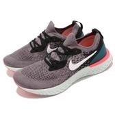 【四折特賣】Nike 慢跑鞋 Wmns Epic React Flyknit 灰 綠 避震回彈中底 女鞋 運動鞋 【PUMP306】 AQ0070-010