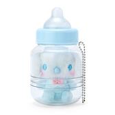 小禮堂 大耳狗 奶瓶造型絨毛吊飾 瓶裝玩偶 玩偶吊飾 玩偶鑰匙圈 收納罐 (藍) 4550337-83855