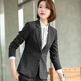 復古學院風格子OL上班/休閒長袖西裝外套[20S132-PF]美之札