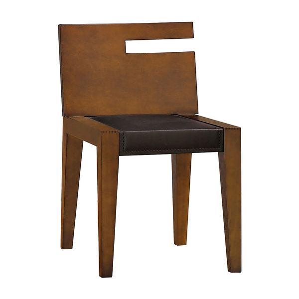 【森可家居】柚木色鏡台椅 7JX122-5 化妝椅 木紋質感 北歐風