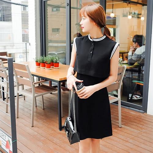 【Fabulous!!】韓版極簡無袖微性感後背開叉洋裝