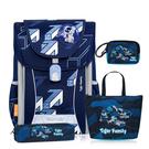 Tiger Family 全球新一代智能磁扣護脊書包 學院風 超輕量 -- 意象藍 NO.H2768