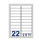 Unistar 裕德3合1電腦標籤紙 (57)UH24100 22格 (100張/盒)