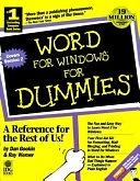 二手書博民逛書店 《Word for Windows for Dummies》 R2Y ISBN:187805886X│For Dummies