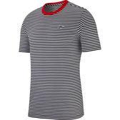 【折後$1150】▶NIKE SPORTSWEAR 條紋 短袖 T恤 男生  線條 T恤 黑橘 AR5074-010
