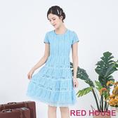 RED HOUSE-蕾赫斯-蕾絲洋裝(藍色)