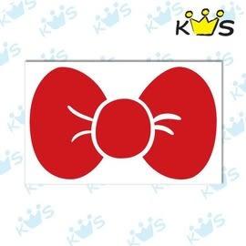 【收藏天地】防水防曬*安全帽 汽機車 萬用貼-大蝴蝶結(2色)