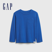 Gap男幼童 活力亮色圓領休閒長袖T恤 577619-藍色