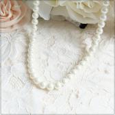 L015 簡約大方百搭款珍珠長鍊項鍊美之札