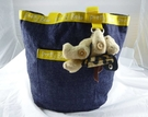 【震撼精品百貨】Pretty Bear 泰迪熊~手提袋『牛仔』