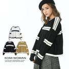 【KOMI】配色立體條紋針織上衣 (1827-711025)