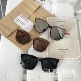 眼鏡  2019春夏新款墨鏡女韓版潮林允太陽鏡網紅眼鏡百搭墨綠色潮牌眼鏡