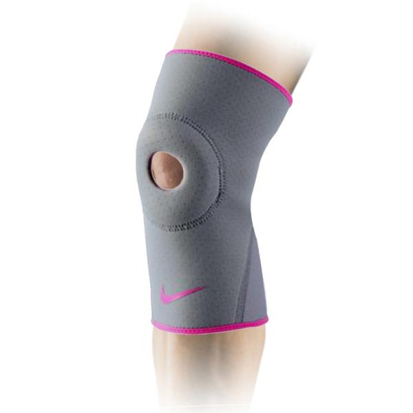 Nike Pro Open Patella AP [NMS55070SL] 運動 防護 支撐 開洞式 護膝 灰 S