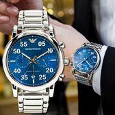 EMPORIO ARMANI 亞曼尼 AR11132 陽光紳士飛行風格腕錶 熱賣中!