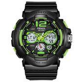 手錶男 炫酷雙顯手錶LED夜光防水運動電子錶《印象精品》p189