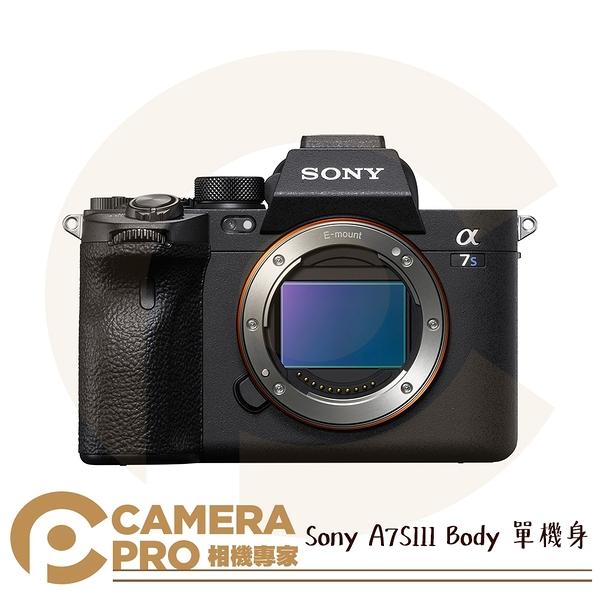 ◎相機專家◎ 預購中 Sony A7SIII Body 單機身 α數位單眼相機 全片幅 A7S3 4K 120p 公司貨