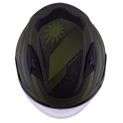 SOL安全帽,SO7,國旗/消光軍綠