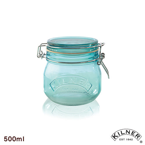 【KILNER】多功能扣式密封罐(藍色) 0.5L