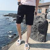 新款男士牛仔褲短褲夏季薄款大短褲休閒運動褲潮流青年學生小腳褲 時尚潮流