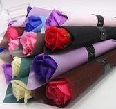 仿真香皂玫瑰花單支肥皂花束康乃馨母親節教師情人節禮物地推 向日葵