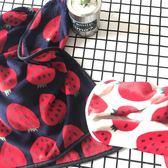 草莓系列法萊絨寵物毯辦公室午睡毯沙髮蓋膝毯子休閒毛毯披肩毯  遇見生活