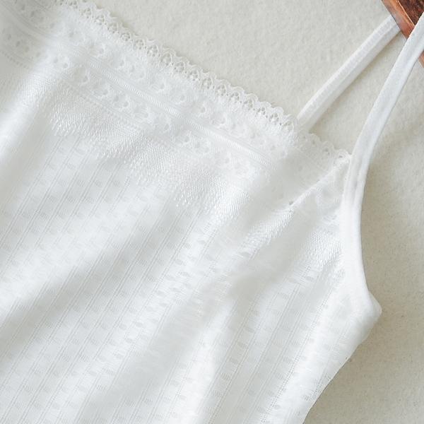 【買一送一】少女白色短款蕾絲美背工字吊帶小背心打底防走光學生裹胸抹胸內衣