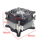 CPU散熱器全新avc 1155/1156/1150 1151/I3/I5/I7/ cpu散熱器 靜音 銅芯4線