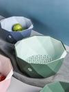 瀝水盆 水果盤北歐風格果籃客廳家用廚房淘菜籃子雙層洗菜盆洗水果瀝水籃 晶彩 99免運