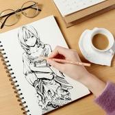 博格利諾硬面素描本 8K 16K專業美術繪畫素描本 線圈裝素描速寫本成