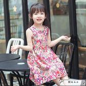小女孩連衣裙純棉4夏季5女童吊帶裙子6兒童7沙灘裙8韓版碎花裙9歲