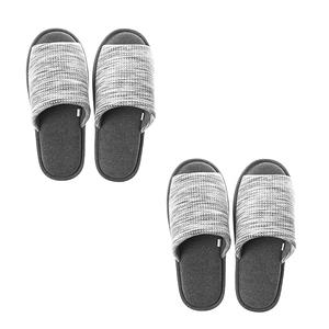 HOLA 風格紋理針織拖鞋-灰Lx2