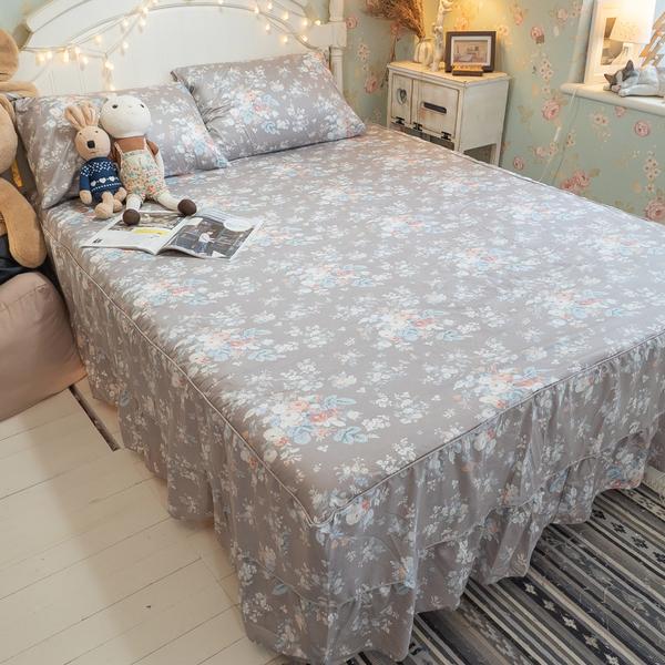【鋪棉床裙】DPS1雙人鋪棉床裙三件組 100%精梳棉 多款任選 台灣製 棉床本舖