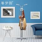 客廳衣架落地衣帽架簡易創意雙桿式包架簡約現代臥室掛衣服收納架「時尚彩紅屋」