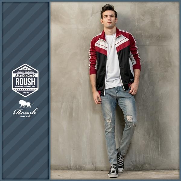 【Roush】 古著設計復古運動外套 -【915789】