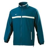 MIZUNO Slim FIT 男裝 外套 立領 平織 拉鍊口袋 藍綠【運動世界】32TC158232