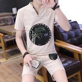 男士短袖t恤2018新款潮牌寬鬆大碼半袖韓版夏季中國風 HH3497【極致男人】