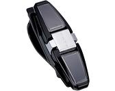 車之嚴選 cars_go 汽車用品【EC-38】日本SEIKO 遮陽板夾式 90度迴轉眼鏡架 (可放2副眼鏡+1支筆)