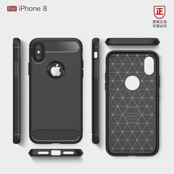蘋果 iPhoneX 手機殼 iPhone X 保護套 蘋果X 碳纖維 ix 矽膠套 全包 防摔 軟殼 手機套 創意拉絲丨麥麥3C