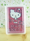【震撼精品百貨】Hello Kitty 凱蒂貓~撲克牌-圓點圖案-紅色