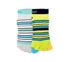 《DKGP147》多色條紋五趾短襪 MO...