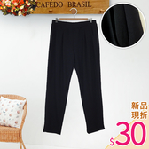 .HL超大尺碼.【20050089】打摺造型後伸縮腰長褲 1色