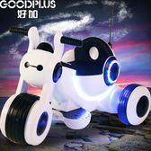 兒童電動車 三輪車可坐人寶寶童車電瓶玩具車 嬰兒兒童電動摩托車igo 晴天時尚館