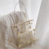 托特包 夏季透明包包女大容量女包潮托特包時尚網紅側背包果凍包 芊墨左岸