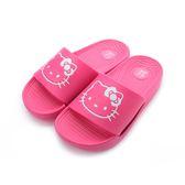 Hello Kitty 大頭印刷拖鞋 桃 818194 中大童鞋 鞋全家福